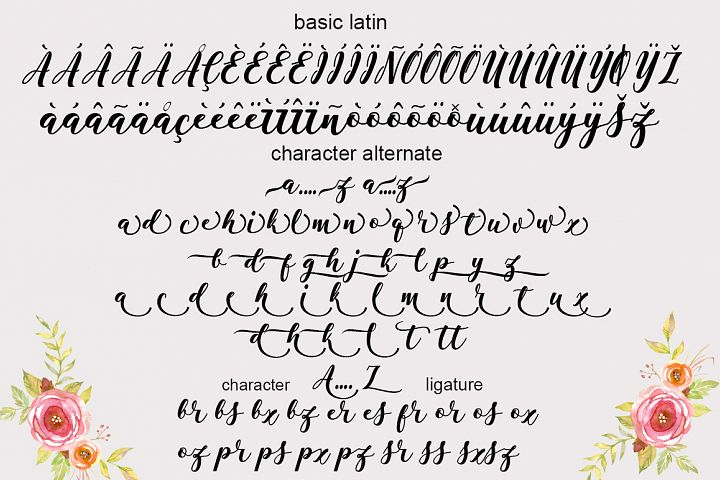 Antelope Script - Free Font of The Week Design 6