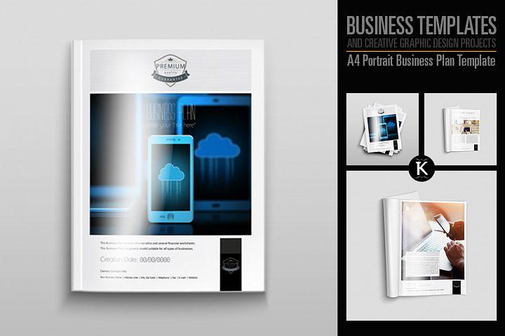 A4 Portrait Business Plan Template