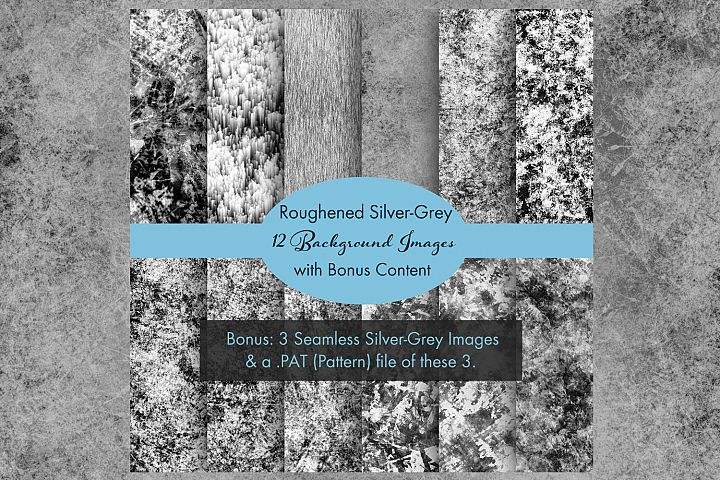 Roughened Silver-Grey - 12 Background Images