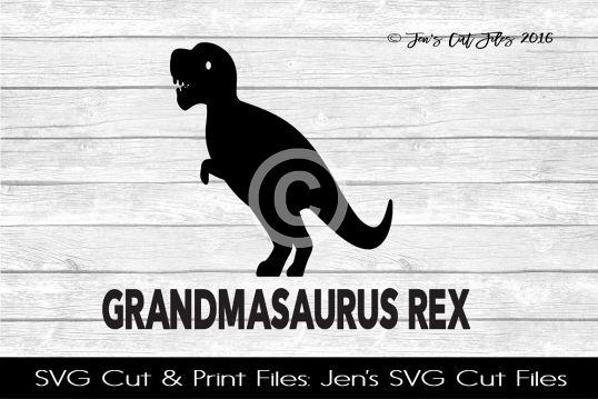 Grandmasaurus SVG Cut File