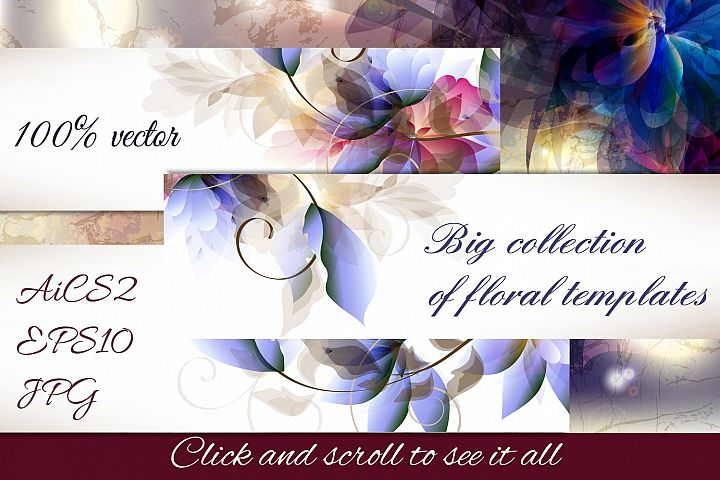 A collection of floral templates
