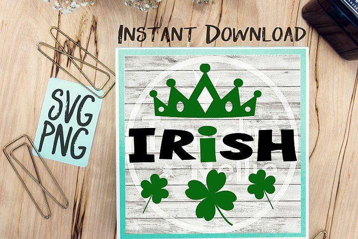 Irish Princess SVG PNG Image Design for Cut Machines Print DIY Design Brother Cricut Cameo Cutout St. Patricks Day Irish Clover Lucky