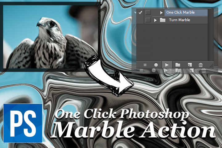 One Click Marble Photoshop Action - Turn Any Photo into Marble