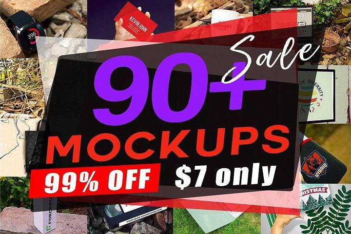 HUGE 90+ Mockups 99% off $7 Only