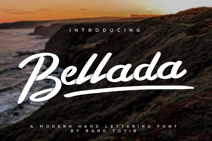 Bellada Script Font + Extras