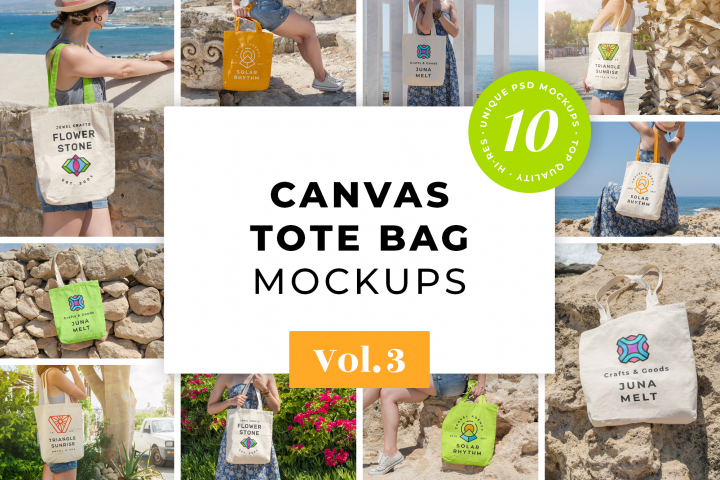Canvas Tote Bag Mockups Pack Vol.3