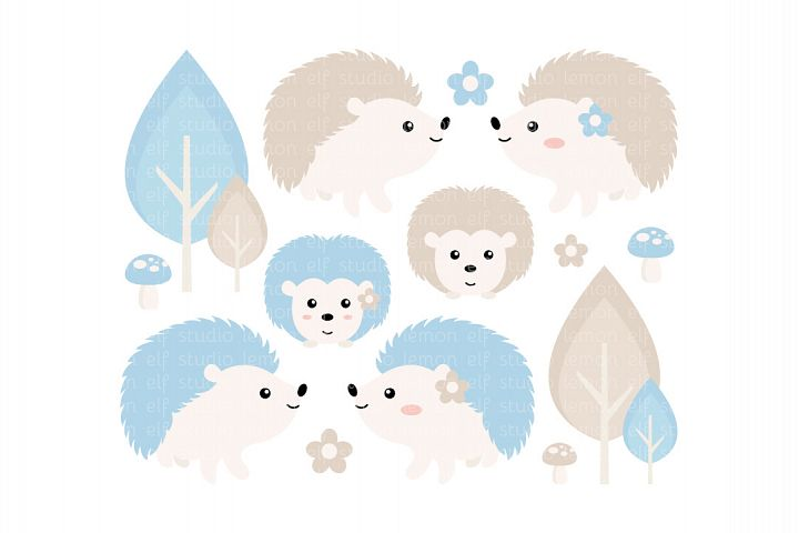 Hedgehogs-Digital Clipart (LES.CL55A)