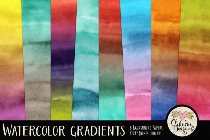Watercolor Gradient Background Textures