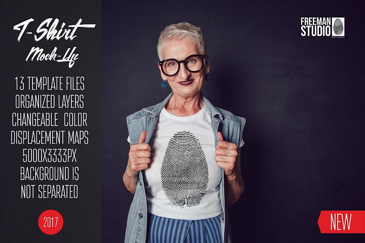 Old Woman T-Shirt Mock-Up