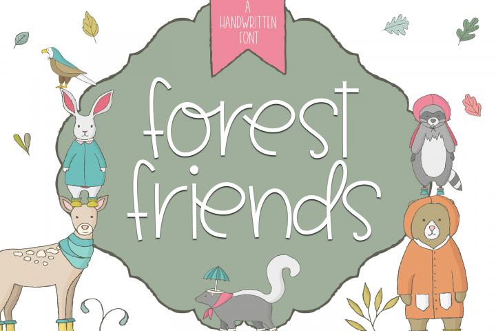 Forest Friends - A Handwritten Font