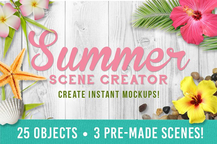 Summer Mockup Scene Creator