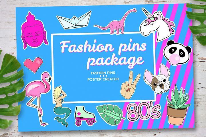 Fashion pins package