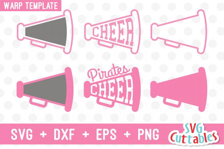 Cheer Cones Cheer Megaphone with Warp Template