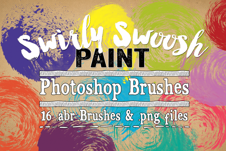 Swirly Swoosh Paint Photoshop Brushes