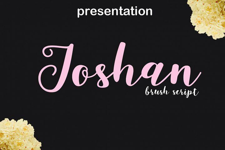 joshan brush script