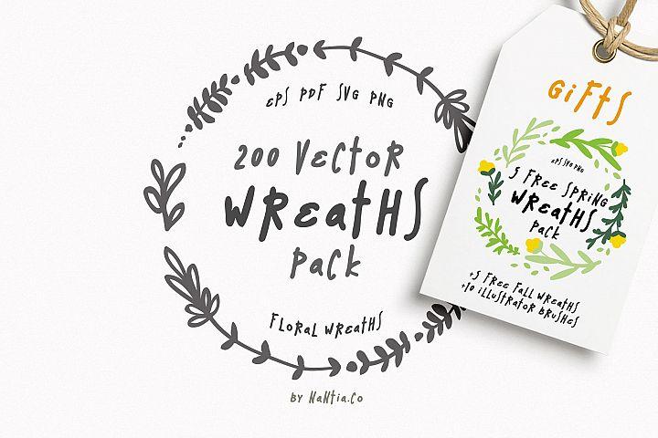 200 Wreaths Vector MEGA Pack