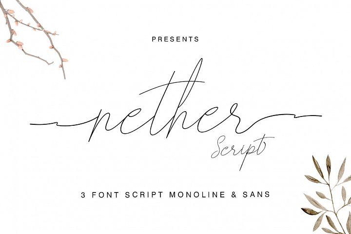 Nether Font Trio Script & Sans