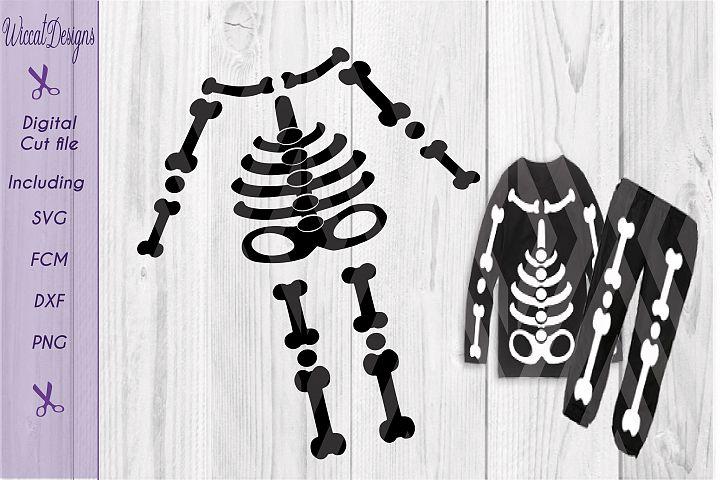 skeleton svg, halloween costume cut file