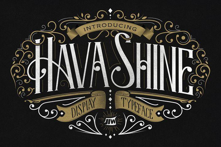 Hava Shine Typeface