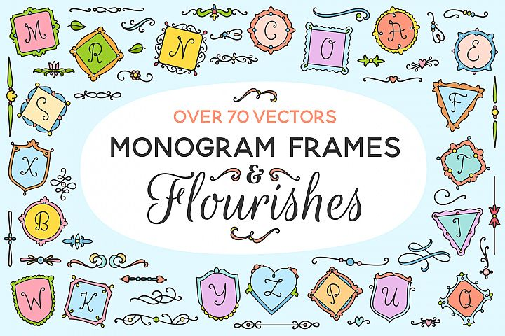 Monogram Frames & Flourishes