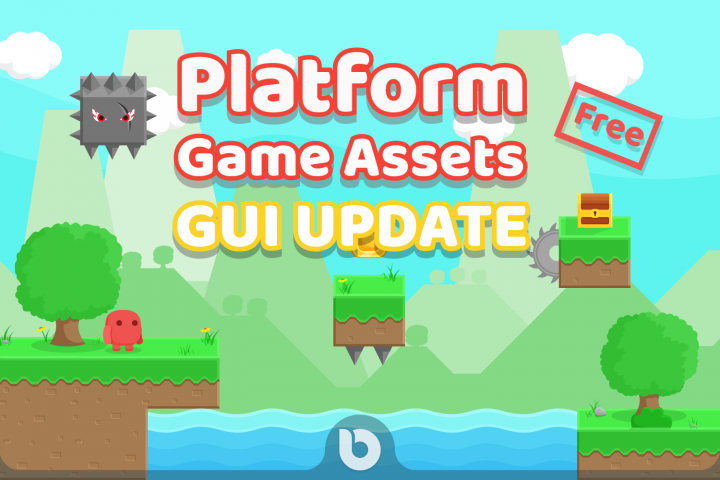Free Platform Game Assets + GUI example 1