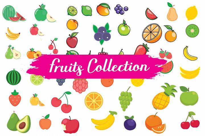 fruits, fruits clipart,fruits illustrations,fruits vector,vareity fruits ,apple,banana,fruits icons,blue berry,rusp berry