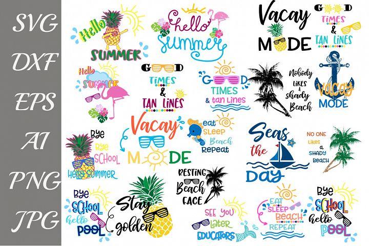 Summer Design Bundle Svg