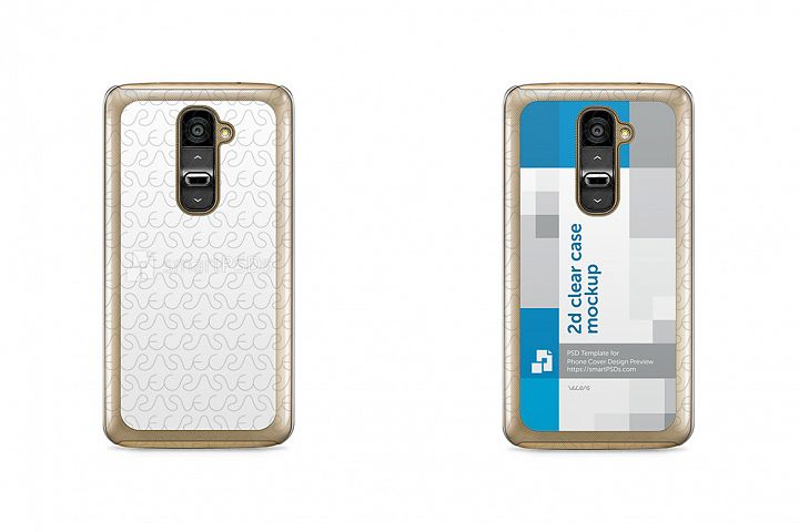 LG G2 2d Clear Mobile Case Design Mockup 2013