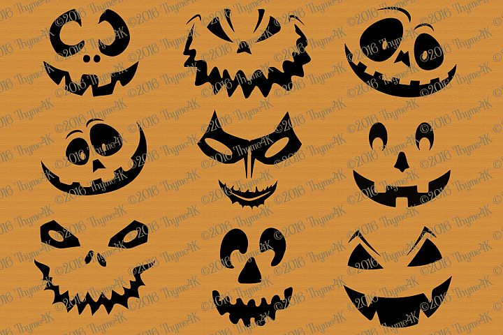 Halloween Pumpkin Faces mix and match!