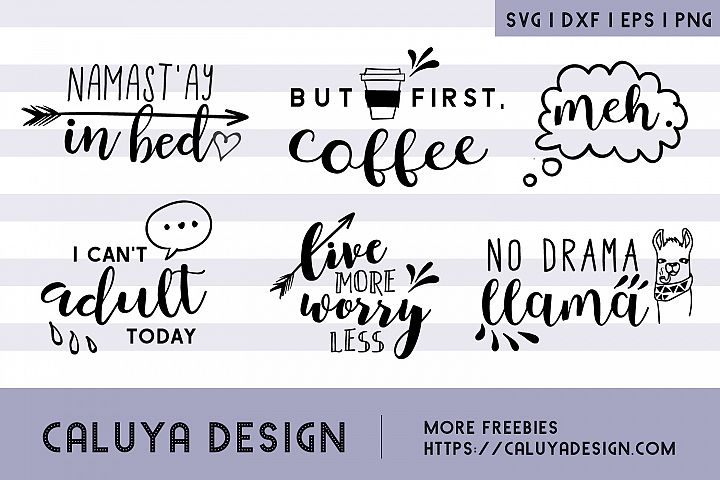 Cheer Up & Relax, SVG Quotes Bundle example 2