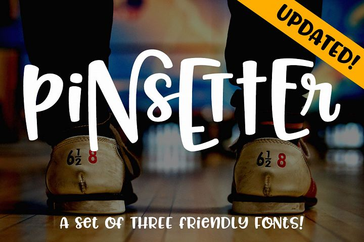 Pinsetter: three fun fonts!