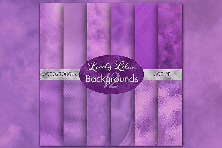 Lovely Lilac Backgrounds - 12 Image Set