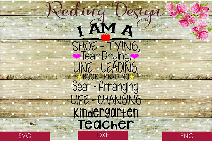 Kindergarten Teacher SVG DXF PNG Digital Cut Files