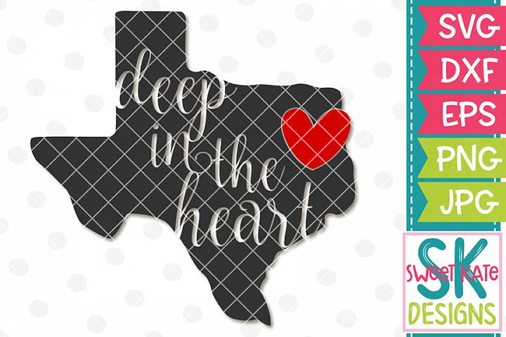 Texas Deep in the Heart SVG DXF EPS PNG JPG