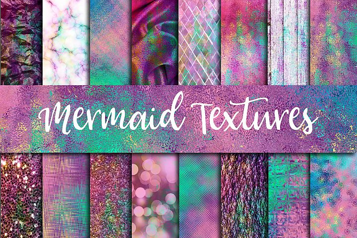 Mermaid Textures Digital Paper - Free Design of The Week