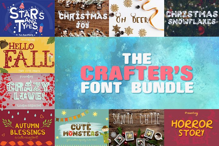 The Crafters Font Bundle + Bonus