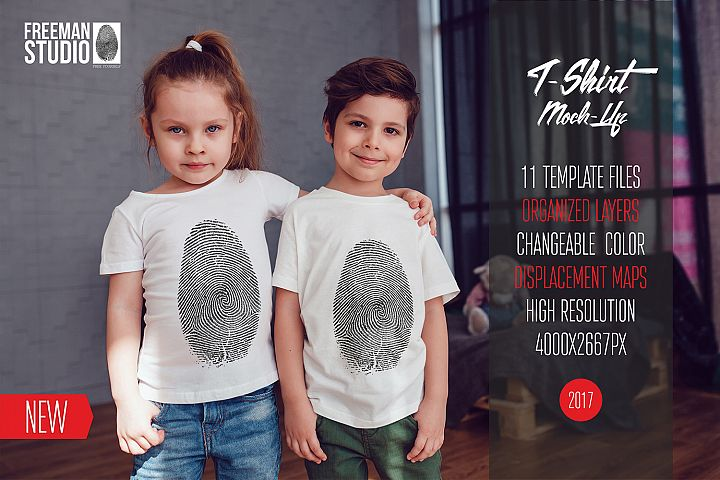 Kids T-Shirt Mock-Up Vol.3 2017