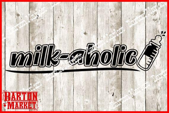 Milk-aholic V1 SVG / EPS / PNG