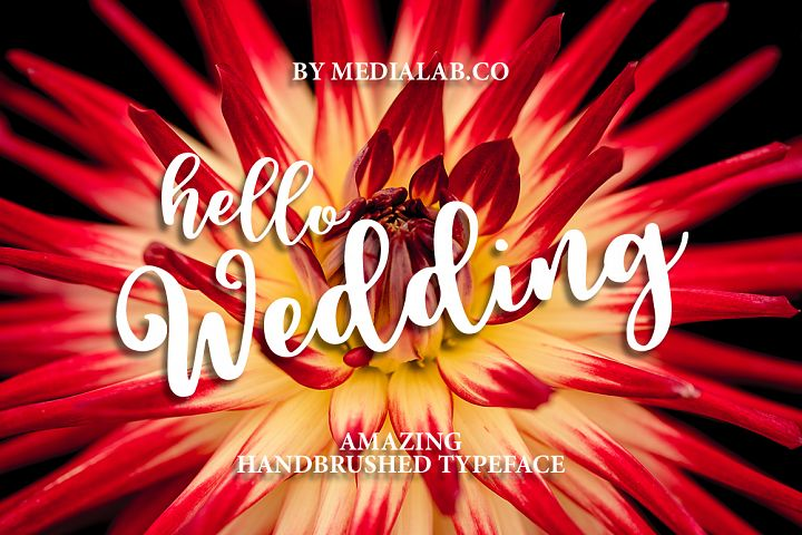 Hello Wedding - Free Font of The Week