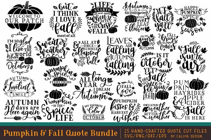 Pumpkin & Fall Quote SVG Cut File Bundle