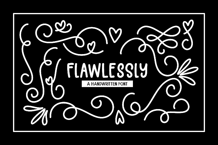 Flawlessly Font + Doodles