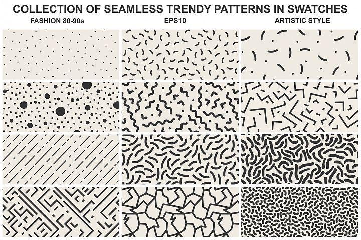 Memphis seamless patterns vol 1