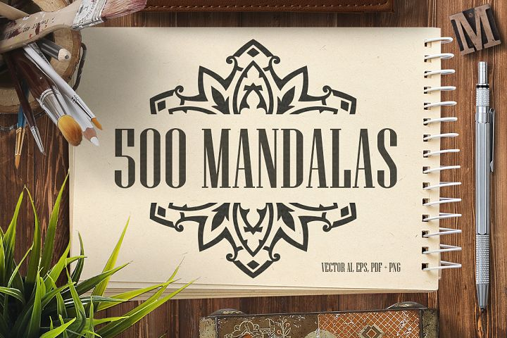 500 Vector Mandala Ornaments