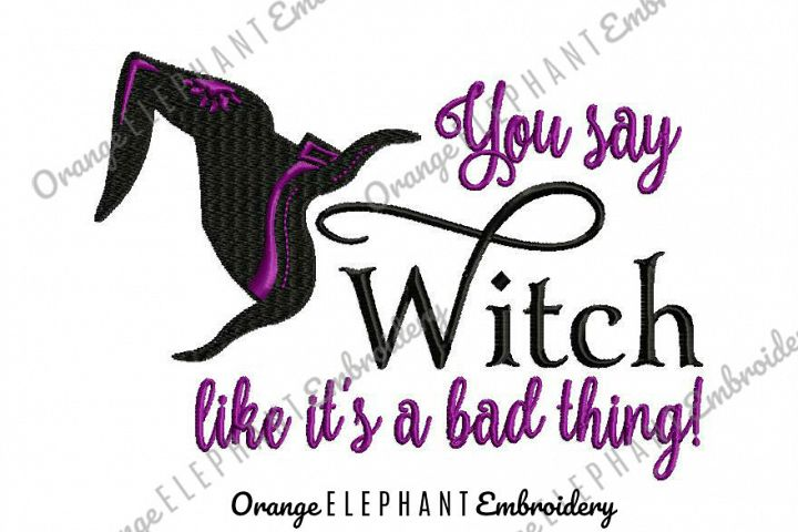 Witch Bad Thing Unique Urban Machine Embroidery Design digital File