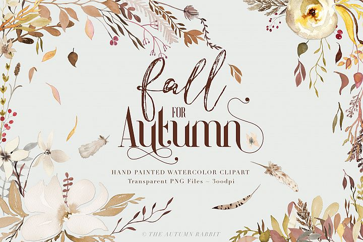 Fall for Autumn - Watercolor Clipart