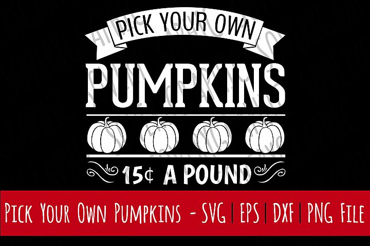 Pick Your Own Pumpkins   Cutting File Printable   SVG   EPS   DXF   PNG   Vintage   Farmhouse Sign   Fall   Autumn   Fruit   Farm   Garden
