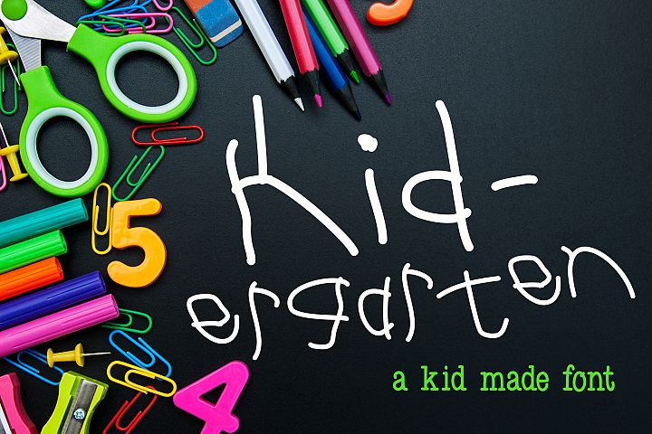 Kid-ergarten a Kid Made Font