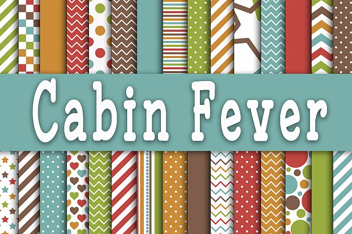 Cabin Fever Digital Papers - Free Design of The Week