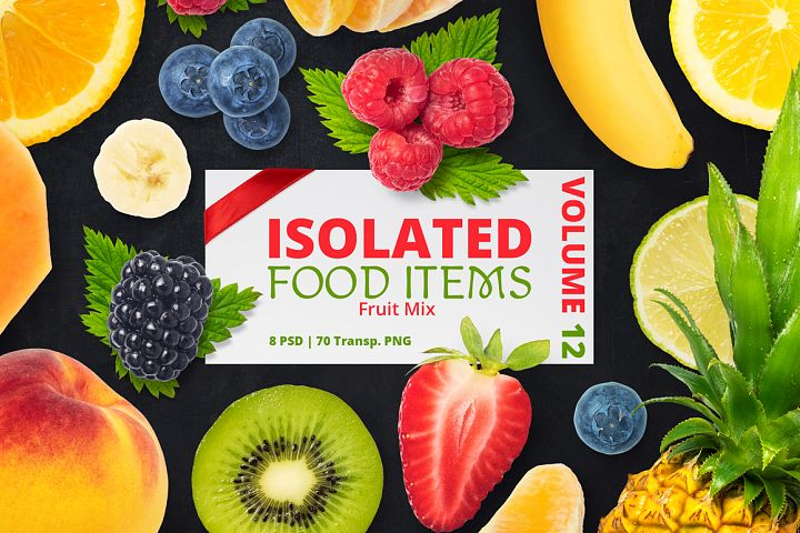 Isolated Food Items Vol.12