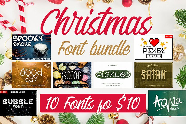 Christmas Font Bundle Pack 90% Discount